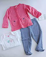 Комплект Картерс для новорожденной девочки с ползунками 6М
