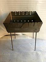 Мангал сборной, металлический на 6 шампуров. Двухуровневый.