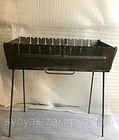 Мангал сборной, металлический на 10 шампуров. Двухуровневый., фото 1