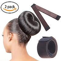 Знаменитая заколка для волос Hairagami (Хэагами) из волос, каштановая, фото 1