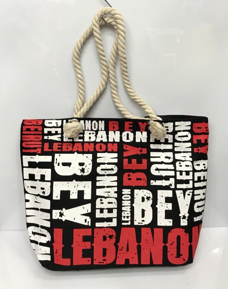 2e7271dd3d0b Пляжная сумка Lebanon черно-белая в буквах женская тканевая ручки канаты  115535, цена 290 грн., купить в Харькове — Prom.ua (ID#719077549)