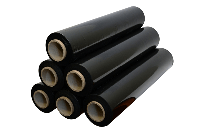 Стрейч пленка (черная),ширина 50см. вес рулона 1,5 кг.