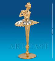 Фигурка с кристаллами Сваровски Балерина 10 см AR-3679