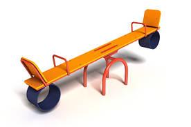 Качеля-балансир Старт с металлическим каркасом для детей от 3 лет (р. 2,4х0,4х0,9 м) ТМ KIDIGO 12-3-01.1/3-6