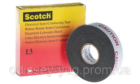 Лента 3М Scotch 13 (19 мм. х 4.5 м.)Cамослипающаяся полупроводящая.13