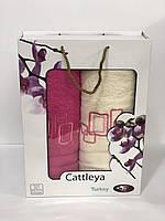 Набор полотенец Турция Cattleya Хлопок 100% в подарочной коробке