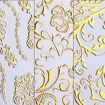 KATTi Наклейки водные AD 319 золото узоры 3D, фото 2