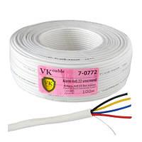 Кабель сигнальный VKcable 4х0,22мм² (медь/без экрана), 100м
