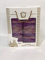 Банное и лицевое полотенце Versace в подарочной коробке Турция