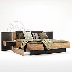 "Кровать ""Луна"" 1,80 мягкая спинка с тумбочками (Без каркаса). Миро Марк."