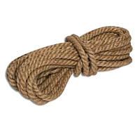 Веревка джутовая крученая 8мм/50м.
