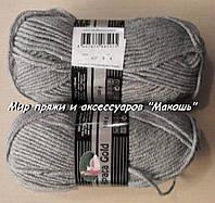 Зимняя пряжа Альпака голд Мадам Трикот, 007, серый