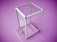 Ящик для голосования из алюминиевого профиля 500х1000х500мм, фото 1