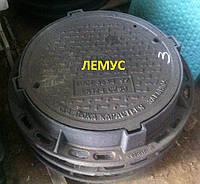 Люк чугунный тяжелый канализационный С250