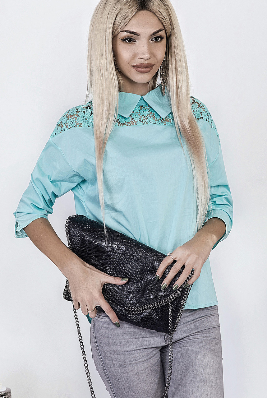 95325b5e4b8 Женская блузка из поплина