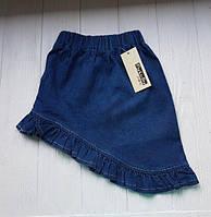 Ассиметричная джинсовая юбка для девочки