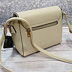 Женская сумка молочного цвета, фото 5