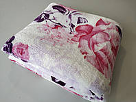Микрофибровая простынь, покрывало TRUE LOVE полуторное Розы на розовом