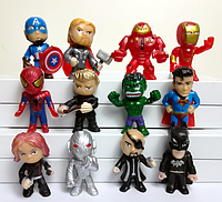 Набор Марвел Супергерои 12 шт. Мстители Бетмен Халк Супермен Тор Капитан Америка Железный человек Тор, фото 1