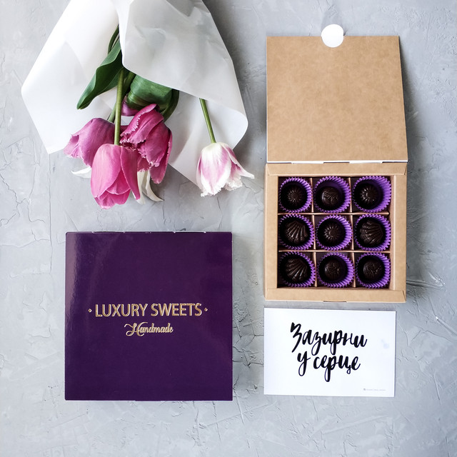Коробка для конфет без окошка