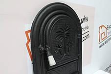 Дверцы печные «Пальма» без стекла 340х540. Чугунная дверка для печи барбекю, фото 3