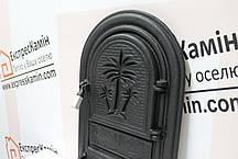 Дверцы печные «Пальма» без стекла 340х540. Чугунная дверка для печи барбекю, фото 2