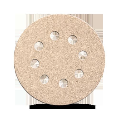 Бумага для сухой шлифовки Smirdex 510. Диаметр 125 мм. 8 отверстий. Зерно 40-800