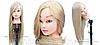 Учебная голова 30% натуральных волос,длина 65-70см, блондинка