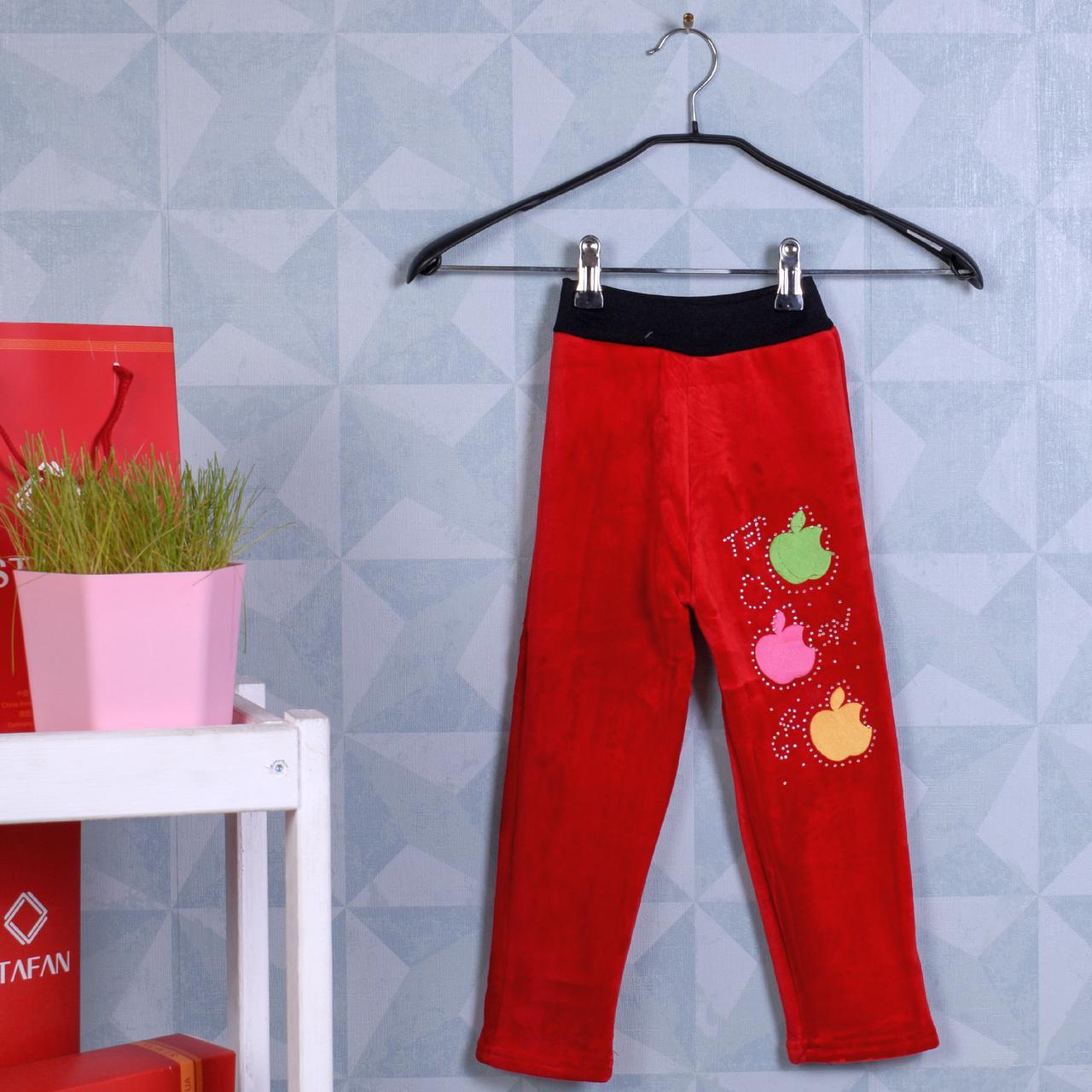 Детские гамаши на меху велюровые красные Золото 04-10 L Red