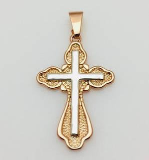 Крест средний размер, позолота 18К Fallon