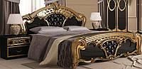 Кровать двуспальная 160 Реджина черный глянец  (Миро Марк/MiroMark)