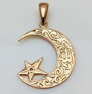 Кулон- подвеска Лунный свет, позолота 18К Fallon