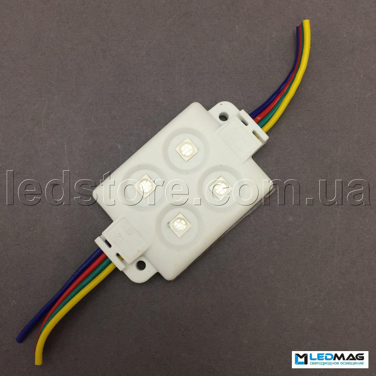Светодиодный модуль RGB 4LED SMD5050 IP65