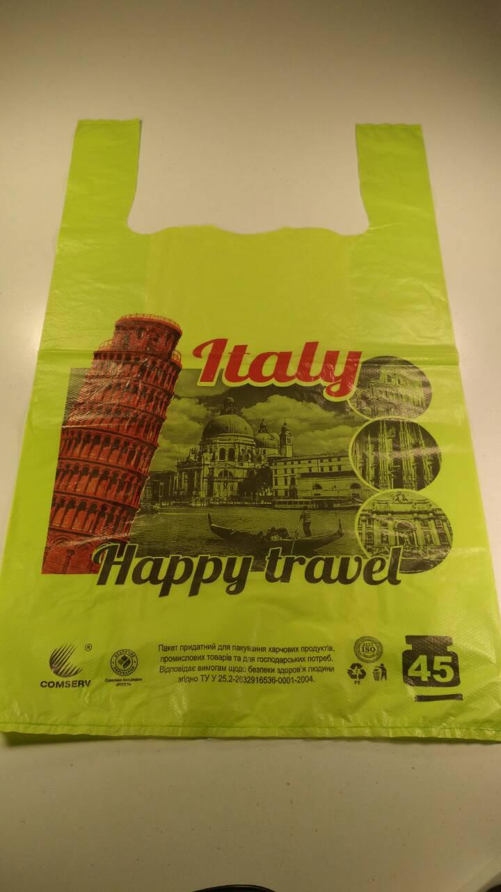 Пакеты майка с рисунком 34*58 Italy  ''Комсерв'' (100 шт)
