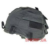 Чехол на каску кавер регулируемый черный MFH Black 10501A