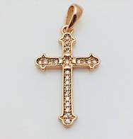 Крест с камнями, позолота 18К Fallon
