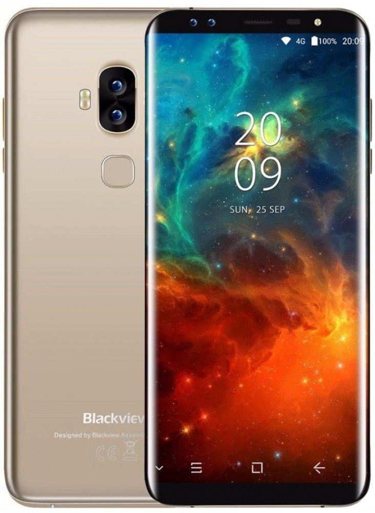 "Смартфон Blackview S8 4/64Gb Gold, 5.7"" IPS, 13+0.3/13+0.3Мп, 2sim, 3180mAh, GPS, 4G, 8 ядер"