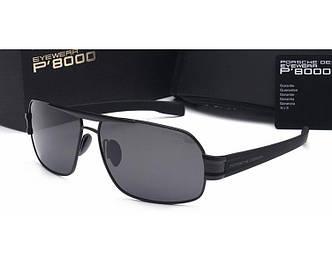 Солнцезащитные очки Porsche Design c поляризацией (p-3258) black SR-879