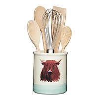 AF Емкость для кухонных принадлежностей керамическая Бычек