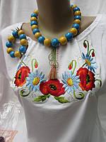 Бусы женские в украинском стиле, фото 1