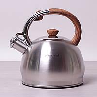 Чайник 2.0л Kamille (0694N) из нержавеющей стали со свистком