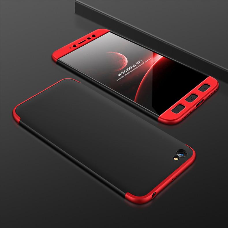 Чехол GKK 360 для Xiaomi Redmi Note 5A 2/16 Бампер Black-Red
