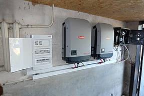 Сетевая станция 30 кВт. 2 инвертора Fronius + 120 панелей Risen 1