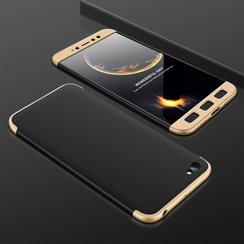 Чехол GKK 360 для Xiaomi Redmi Note 5A 2/16 Бампер Black-Gold