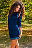 Платье с кожаными вставками, фото 2