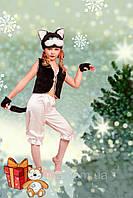 Детский карнавальный костюм Кот Кошка Котенок черно белый, фото 1