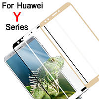 Захисне скло з рамкою для Huawei Y9 2018