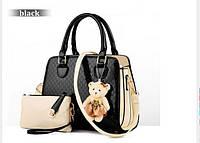 Женская сумка на плече ZHIERNA в 3 цветах ! Черный