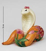 Фарфоровая статуэтка Змея 9 см Pavone JP-51/19