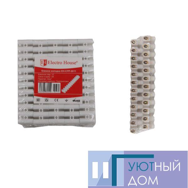Клеммная колодка 3A 4mm² Полипропилен